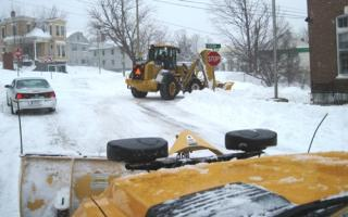 Plowing Downtown